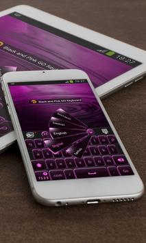Black and Pink GO Keyboard apk screenshot