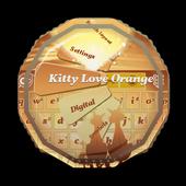 Kitty Love Orange GO Keyboard icon