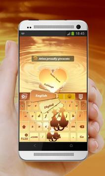Kitty Love Orange GO Keyboard poster