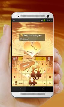 Kitty Love Orange GO Keyboard screenshot 1