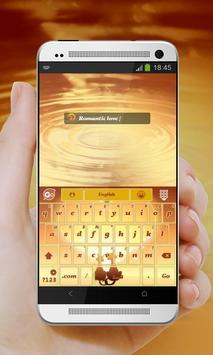 Kitty Love Orange GO Keyboard screenshot 2