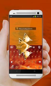 Orange drink GO Keyboard poster