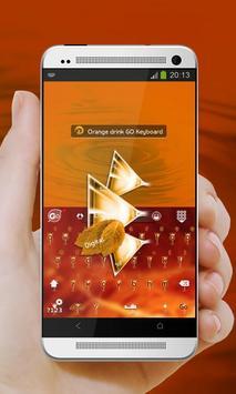 Orange drink GO Keyboard apk screenshot