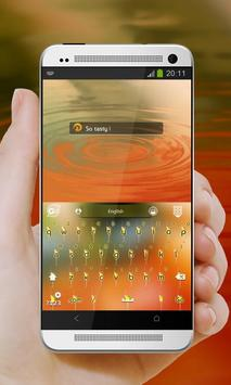Orange juice GO Keyboard apk screenshot