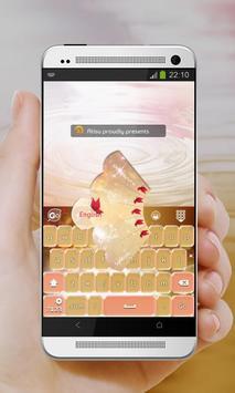 Shiny bubbles GO Keyboard poster