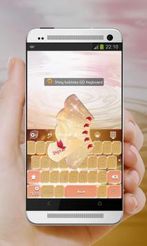 Shiny bubbles GO Keyboard screenshot 1