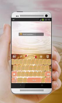 Shiny bubbles GO Keyboard screenshot 2