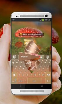 Red Mushroom GO Keyboard poster