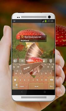 Red Mushroom GO Keyboard screenshot 1