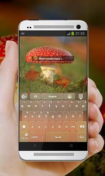 Red Mushroom GO Keyboard screenshot 2