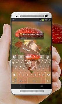 Red Mushroom GO Keyboard screenshot 3