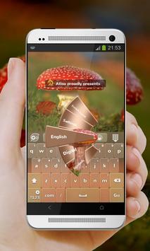 Red Mushroom GO Keyboard screenshot 4