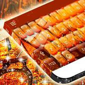 Amber Leaves Keyboard Theme icon