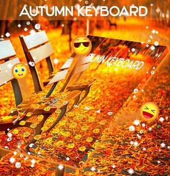 Amber Leaves Keyboard Theme apk screenshot