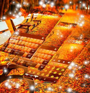 Amber Leaves Keyboard Theme screenshot 2