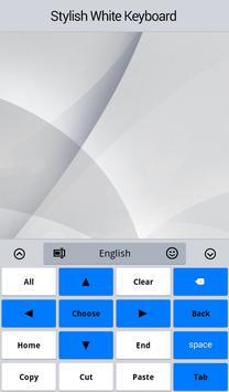 Stylish White Keyboard apk screenshot