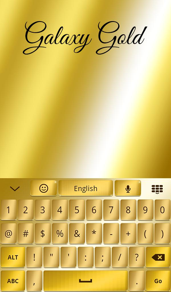 Gold Keyboard 4 Samsung Galaxy For Android Apk Download