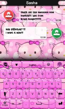 Hi Kitty keyboard theme poster