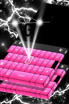 Black And Pink Keyboard poster