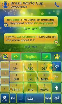 Football Brazil Keyboard Theme screenshot 4