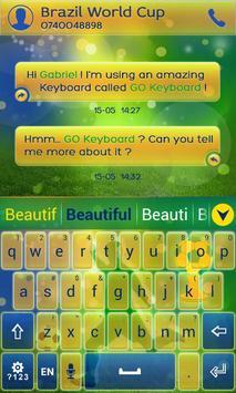 Football Brazil Keyboard Theme poster