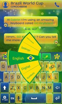 Football Brazil Keyboard Theme screenshot 1