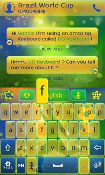 Football Brazil Keyboard Theme screenshot 2