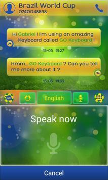 Football Brazil Keyboard Theme screenshot 3