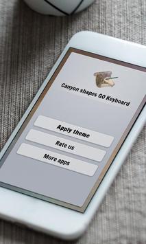Canyon shapes Keyboard Skin poster
