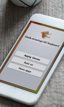 Chalk drawings Keyboard Skin apk screenshot