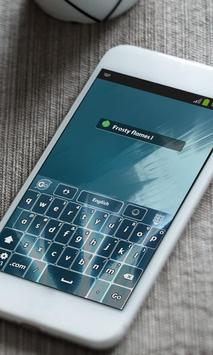 Crystal Blue Keyboard Skin apk screenshot