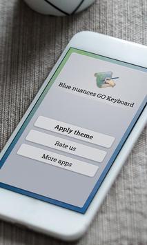 Blue nuances Keyboard Skin poster