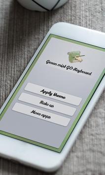Green mist Keyboard Skin poster