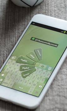 Green mist Keyboard Skin screenshot 1