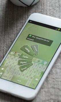 Green mist Keyboard Skin screenshot 4