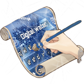 Digital water Keyboard Skin icon