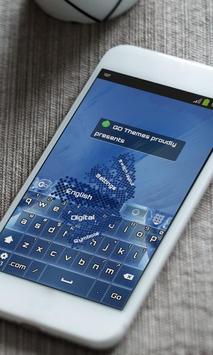 Digital water Keyboard Skin apk screenshot