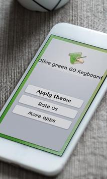 Olive green Keyboard Skin poster