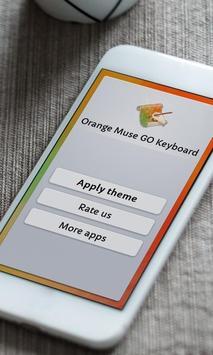 Orange Muse Keyboard Skin poster