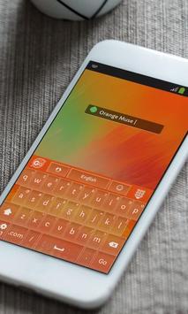Orange Muse Keyboard Skin apk screenshot