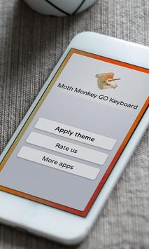 Moth Monkey Keyboard Skin apk screenshot