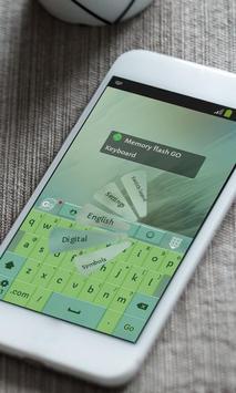Memory flash Keyboard Skin apk screenshot