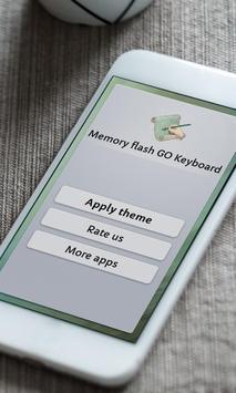 Memory flash Keyboard Skin poster