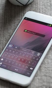 Misty pink Keyboard Skin apk screenshot