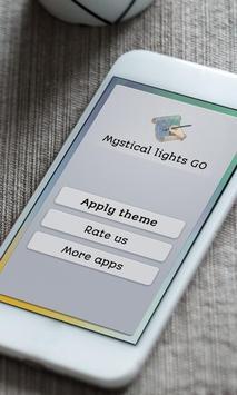 Mystical lights Keyboard Skin poster
