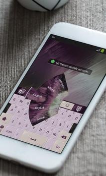 Purple darkness Keyboard Skin apk screenshot