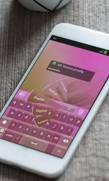 Raining pink Keyboard Skin apk screenshot