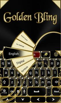 Black and Gold Keyboard Theme screenshot 1