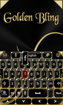 Black and Gold Keyboard Theme screenshot 2