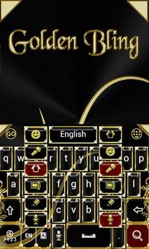 Black and Gold Keyboard Theme screenshot 3